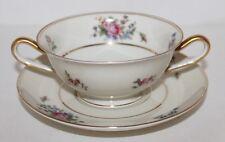 """VTG Bavaria Tirschenreuth """"The Queens Rose""""  Cream Soup w/Underplate Design 4416"""