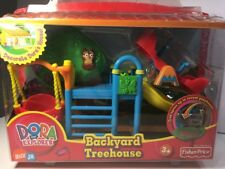 Dora The Explorer Backyard Treehouse Set Dollhouse Furniture-New in Box