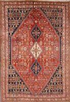 Antique Tribal Vegetable Dye Kashkoli Abadeh Hand-Knotted 7x10 WOOL Oriental Rug