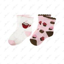 NWT Gymboree SWEET TREATS Baby Cocoa & Cupcakes Ankle Ruffle Socks 6-12 mths.