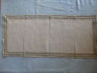 French Antique Table Runner Bobbin Lace Linen Handmade Tablecloth Puy en Velay