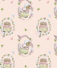 Peter Rabbit Fabric - Mrs Tiggy Winkle - 100% Cotton Fabric - Metre/Fat Quarter