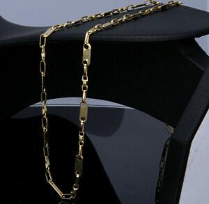 Plattenkette Plättchenkette Steigbügelkette ECHT Gold 585 14K 4mm 55cm 13,5g NEU