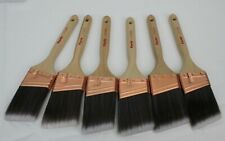 """6 Purdy XL Glide Paint Brushes 2.5"""" Angled All Paints Lot New Unused Painters"""
