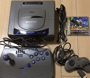 Sega Saturn Console System Bundle Controller & Cables with Virtua-stick + Game