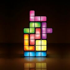 Colorful Tetris Light Cube Shapes Novelty Multicolor Table Lamp Tetrimino Light