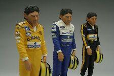 Exoto | BLACK | Ayrton Senna Hand Painted Figurine | Scale 1:8