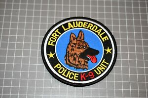 Fort Lauderdale Florida Police K-9 Patch (S03-1)