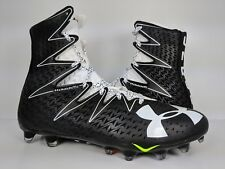 Under Armour UA Highlight Football Cleats Black Silver Grey (1269693-011) sz 11