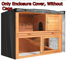 Pet Rabbit Hutch Cage Enclosure House Bunny Ferret Chicken Coop with Cover Roof