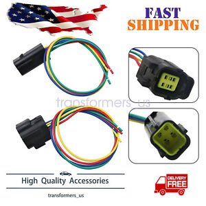 MALE & FEMALE O2 Sensor Connector Pigtail for Dodge Jeep Liberty Wrangler Ram
