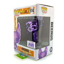 514 Funko POP Dragonball Beerus (Purple Chrome) w/ PROTECTOR Funimation Exclusiv