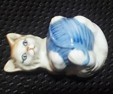 "Danbury Mint Cats Of Character ""Roly Poly"" Fine Bone China Tabby Cat Figurine"