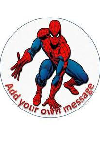 SPIDERMAN #3 PERSONALISED 7.5 INCH/19 CM EDIBLE WAFER PAPER CAKE TOPPER