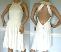 New NWT $5,875 Azzaro Couture Pearl Wedding Embellished Ivory Dress US 4 6 FR 38