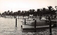 1940's RPPC Boats at Yacht Basin Fort Myers FL