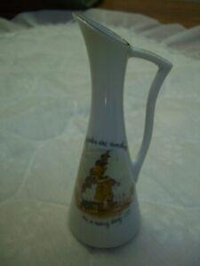 Vintage 1973 Holly Hobbie Multi-color Porcelain Vase/Pitcher