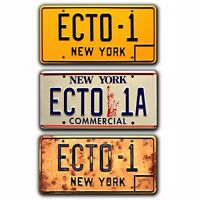 Ghostbusters: Afterlife | ECTO-1 | Metal Stamped Replica Prop License Plates