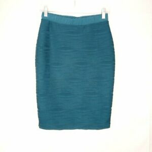 NY Collection Pencil Skirt Women Size S Blue