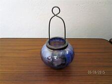 Bellissimo vetro lumino da tè supporto con struttura in metallo in forma di luna-BLU VETRO/s60