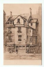 House In Which John Knox Died Edinburgh Published By WJ Hay Old Postcard