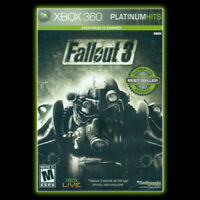 NEW Fallout 3 [Platinum Hits] Xbox 360 SEALED Bethesda action rpg microsoft
