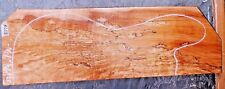 Ambrosia Spalted Curly Maple Luthier Wood 8378 One PC. 23 x 7.5 x 1.625+