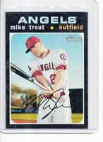 Mike Trout 2020 Topps Heritage SP #466 Pack Fresh Angels
