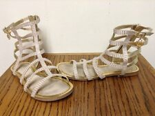STUART WEITZMAN Gold Leather Gladiator Caged Sandals Size 5 Gorgeous Excellent