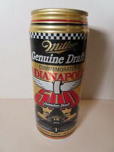 1992 76th Indianapolis 500 Indy Car Racing Miller MGD Beer Can 16oz Coin Bank