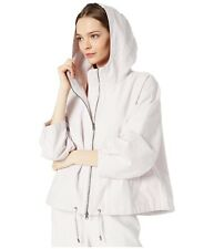 Eileen Fisher Sueded Organic Cotton Hemp Canvas Hooded Jacket 580$ SIZE L