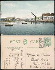 DORSET BRIDPORT 1905 WEST BAY HARBOUR PPC