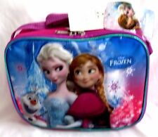 FROZEN ELSA,ANNA, AND OLAF PINK/BLUE INSULATED LUNCH BAG LUNCHBOX-BRAND NEW!