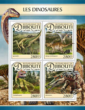 More details for djibouti 2017 mnh dinosaurs iguanodon spinosaurus spinops 4v m/s stamps