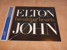 "1984 Elton John - Breaking Hearts Album Promo Poster, 12"" X 13"""