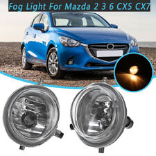 Pair Side Clear Lens Fog Light Lamps w/ Halogen Bulbs For Mazda 2 3 6 CX5 CX7