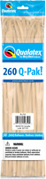 260Q BLUSH MODELLING BALLOONS PACK OF 50 PARTY SUPPLIES