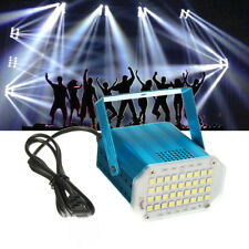 36x 5050 Super Bright Voice Auto LED Mini Stage Light DJ Strobe Party Disco KTV