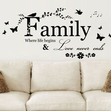 Removable Family  Words Decal Art Quote Mural DIY Vinyl Home Decor Wall Sticker