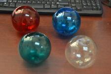 "4 Pcs Assort Reproduction Color Blown Glass Float Fishing Buoy Ball 4"""