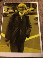 Andy Warhol  Pop Artist Art Repro Poster Black Yellow Print
