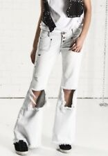 One x OneTeaspoon Xanthe Le Cats Cut Out Flare Jeans Size 23x32 NWT