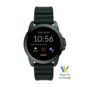 Mens Smartwatch FOSSIL FTW4047 Silicone Black GEN 5E NEW COLLECTION