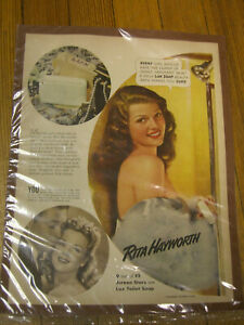 Vintage Rita Hayworth for Lux soap ad 1957 original