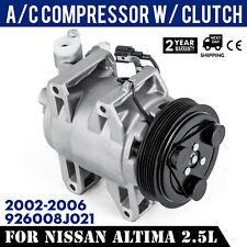 AC Compressor for Nissan Altima L4 2.5L 2002 2003 2004 2005 2006 926008J03B