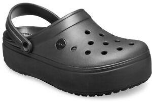 Women's CROCS  Crocband Platform Black clog sandal