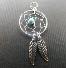 Solid Sterling silver dreamcatcher pendant -  925