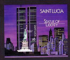 ST. LUCIA  SCOTT# 884 MNH STATUE OF LIBERTY SOUVENIR SHEET