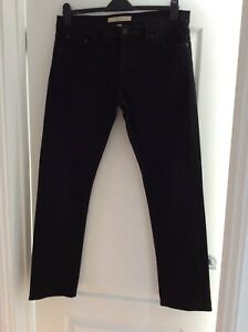 MENS GENUINE BURBERRY BRIT JEANS - 34 W/ 32 LEG  ( STRAIGHT) - BLACK
