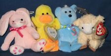 TY 2005 BASKET BEANIE SET - BAASHFUL, CANDIES, BASKETS & DUCKLING - MINT TAGS